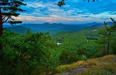 view of mountain from north carolina homesite